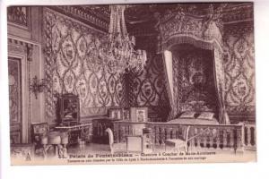 B&W Interior, Marie Antinette's Bedroom, Fontainbleau, Paris, France, L Menard