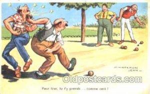 Lawn Bowling Artist Chaperon Jean Postcard Postcards 1962