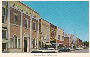 Kentucky Fulton Lake Street Looking East Showing City National Bank