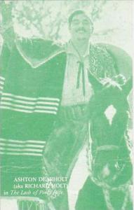 Cowboy Actor Ashton Dearholt aka Richard Holt Vintage Arcade Card