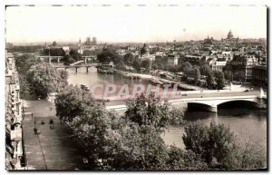 Old Postcard Paris panoramic view over the Seine