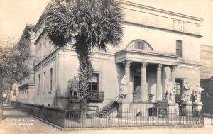 Savannah Georgia Telfair Academy Real Photo Vintage Postcard JH230103