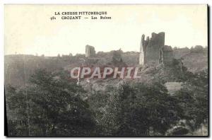 Old Postcard Crozant Ruins