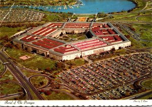 Virginia Arlington Aerial View Of The Pentagon 1973
