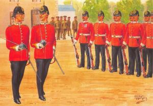 Postcard The Essex Regiment, Company Commander 2nd in Command Review Order #27-3