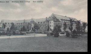 Michigan East Lansing Mason Hall Michigan State College Albertype