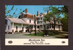 NB Marshlands Inn Hotel Sackville New Brunswick Canada Carte Postale Postcard