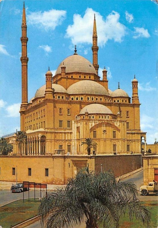 Egypt Cairo The Mohamed Aly Mosque Cars