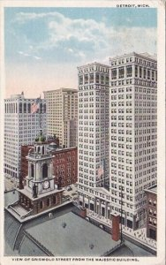 View Of Griswold Street From The Majestic Building Detroit Michigan 1917
