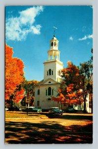 Bennington VT-Vermont, Old First Church, Cemetery, Classic Cars, Chrome Postcard