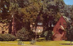 Rockland Maine~Know County Hospital~St Peter's Episcopal Church~1954 Postcard