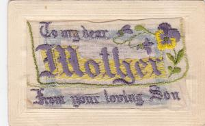 EMBROIDERED : To my dear MOTHER from your loving Son , 00-10s