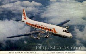 Capital Airlines Viscount Airplane, Airport Post Card, Post Card  Capital Air...