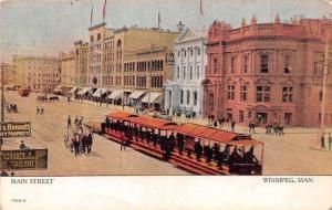 Canadian Souvenir, Man. Winnipeg, Main Street tram