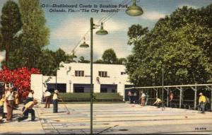 Florida Orlando Shuffleboard Courts In Sunshine Park 1960 Curteich