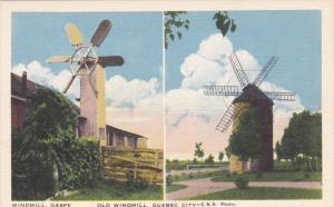 Windmill, Gaspe & Old Windmill, Quebec City, Canada, 20-30s