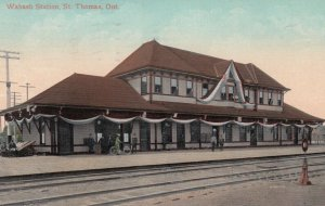 ST. THOMAS , Ontario , Canada, PU-1908 ; Wabash Railroad Station