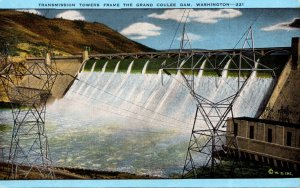 Washington Grand Coulee Dam Transmission Towers