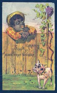 VICTORIAN TRADE CARD Alden Fruit Vinegar