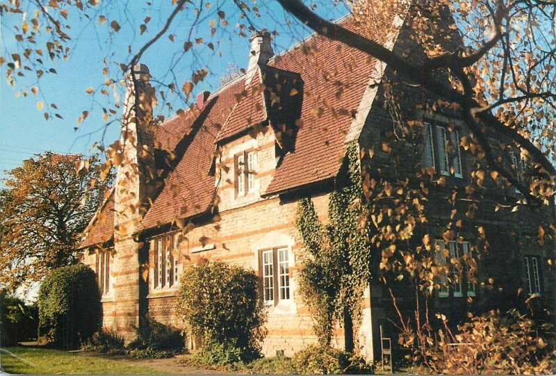 British Postcard England  Irchester Castle Ashby Threefold