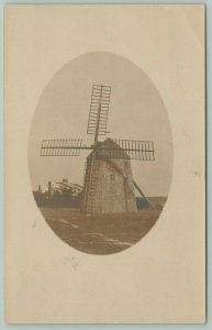South Yarmouth Cape Cod Massachusetts~Bass River Windmill Built 1791~c1910 RPPC