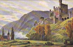 Castle, Scloss Falkenburg U. D. Klemenskapelle, Rhineland-Palatinate, Germany...
