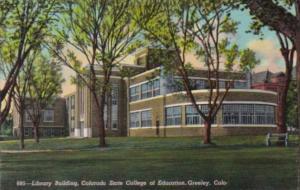 Colorado Greeley Library Building Colorado State Teachers College Of Education