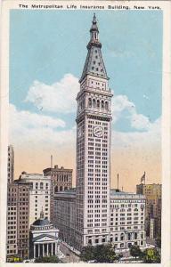 Metropolitan Life Insurance Building New York City 1926