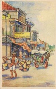Indonesian Artist Signed L.E. Halewijn  06.69