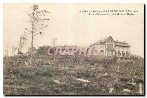 Old Postcard Ballon d'Alsace Overview Grand Hotel