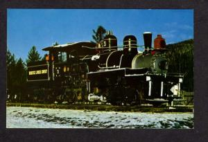 NH Lima Shay Railroad Train Locomotive Engine N Woodstock New Hampshire Postcard
