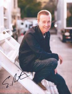 Edward Norton Giant Hand Signed Official Photo With COA Autograph MINT Sealed