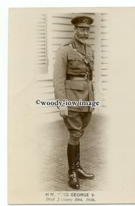r2196 - H.M.King George V in Uniform, died January 20th 1936 - postcard