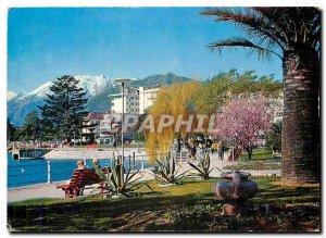 Modern Postcard Locarno Lungolago Muralto
