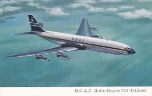 Airplane in Flight, B.O.A.C. Rolls-Royce 707 Jetliner, 50-70's