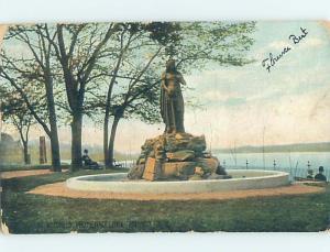 Divided-Back MONUMENT Hudson New York NY HJ8174