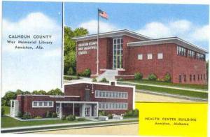 War Memorial Library and Health Center Building Anniston Alabama, AL, Linen