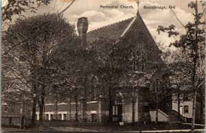 BRACEBRIDGE Ont.: Methodist Church K.M Bickmore Private POSTCARD