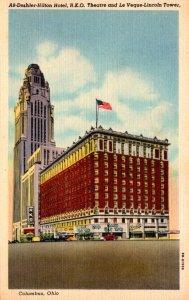 Ohio Columbus Deshler-Hilton Hotel R K O Theatre and Le Veque-Lincoln Tower C...