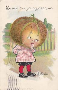 E Curtis Figure With Large Cantaloupe For Head 1908 Tucks
