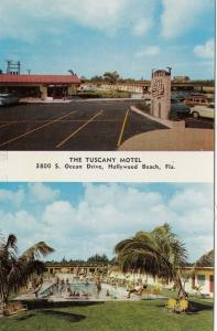 HOLLYWOOD BEACH, Florida , 50-60s; Tuscany Hotel, Parking Lot & Swimming Pool
