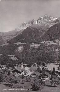 France Champery et les Dents du Midi 1953 Photo