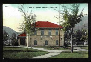 Vintage Postcard - Public Library, Manitou, Colorado - Nice!