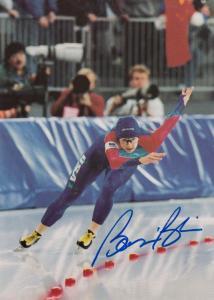 Bonnie Blair Ice Skating Champion Original Hand Signed Photo