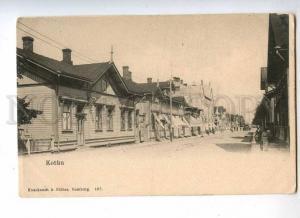 232841 FINLAND KOTKA street Vintage undivided back postcard