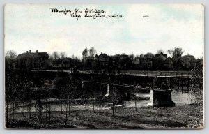 Big Rapids MI~Maple Street Bridge~Big Homes Hill~Spooning Place~1912 CU Williams