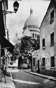 France Paris Old Montmartre Chevalier Sacred Heart Church 1953