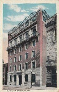 BALTIMORE , Maryland , 1910s ; Elk Club