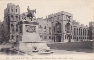 The Quadrangle, Showing Statue Of Charles II, WINDSOR CASTLE (Berkshire), Eng...