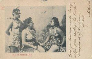 Types of Samoan Girls (topless) , 1906